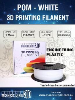 POM - Engineering Plastic (1kg) – White