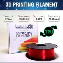 TPU - Flexible (1kg) – Red Transparent
